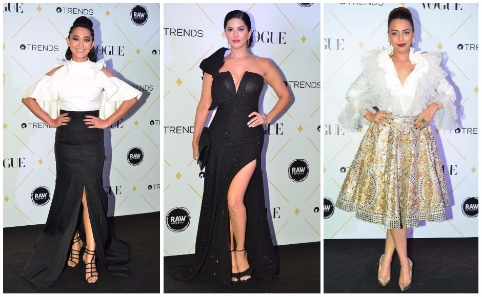 Sayani Gupta, Sunny Leone and Swara Bhaskar brought glamour to the Vogue Beauty Awards red carpet. The event was held in Mumbai on Wednesday (2 August 2017) night.