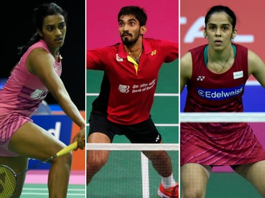 PV Sindhu, Kidambi Srikanth and Saina Nehwal are in the quarters. AFP