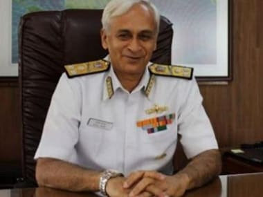 File image of Navy Chief Sunil Lamba. PTI