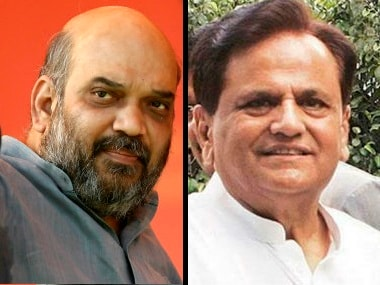 File image of BJP chief Amit Shah and Congress leader Ahmed Patel.