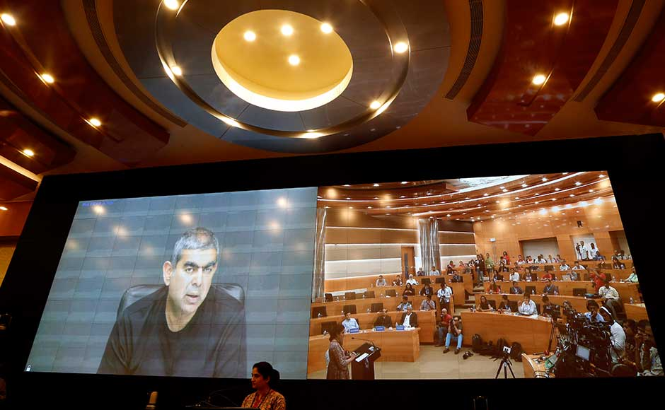 """In marathon investor calls and media briefing, Infosys Chairman R Seshasayee said anonymous complaints of alleged misdeeds in theacquisition of Israeli firm Panaya are being repeated over and over again despite two independent probes not finding any wrongdoings. He countered Murthy's assertion that the """"whistle-blower complaint"""" was probed by a set of lawyers hired by a set of accused and such a report gave a clean chit to the accused. He attributed non-release of the full probe report to confidentiality clauses. AP"""