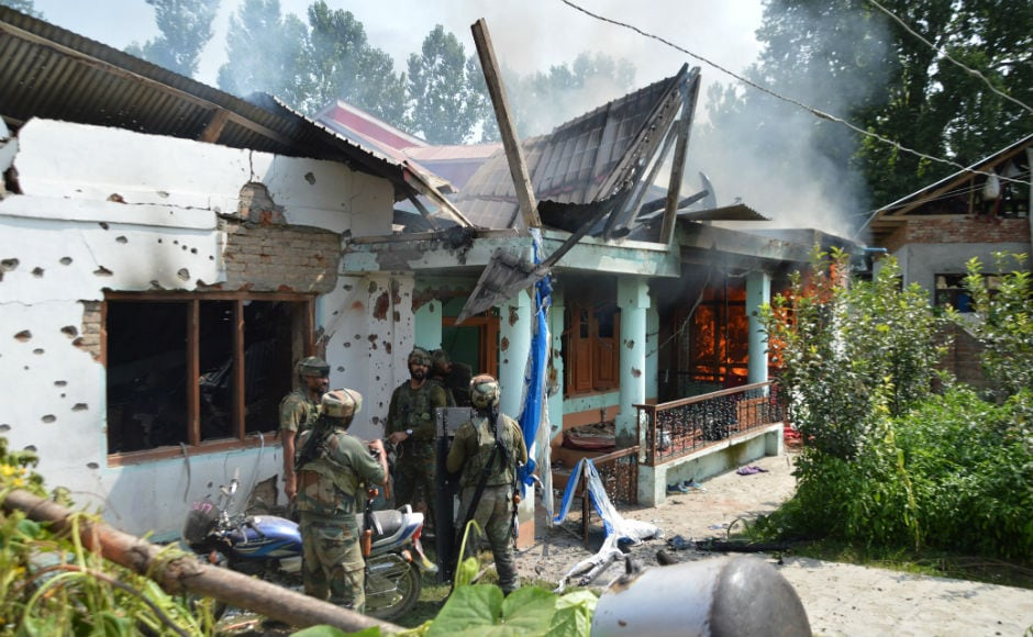 During the operation, terrorists opened fire, prompting retaliation from the forces, which triggered a gunbattle. Firstpost/Shah Hilal