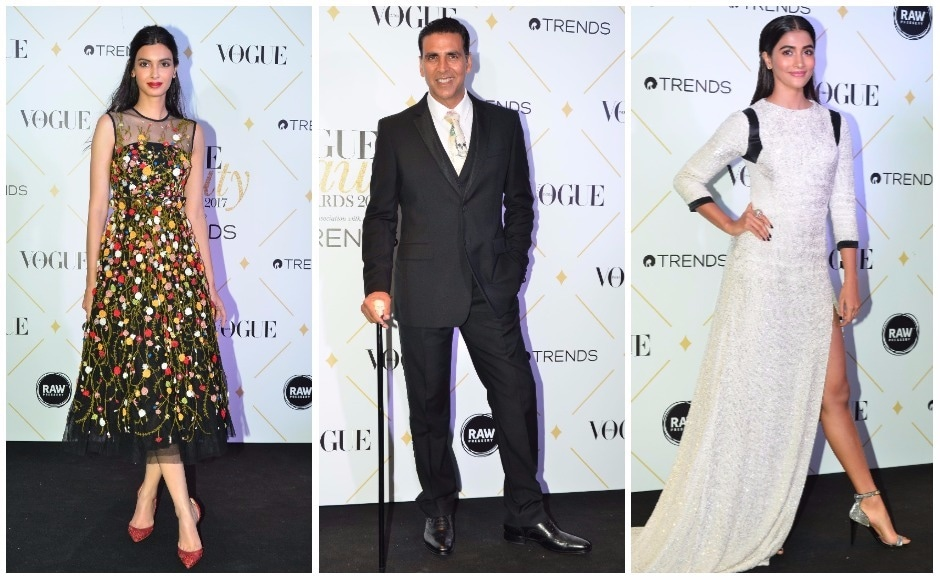 Diana Penty and Pooja Hegde were judges at the Vogue Beauty Awards 2017. Akshay Kumar was named 'Most Beautiful Man of the Decade', and delivered a speech written by wife Twinkle Khanna.