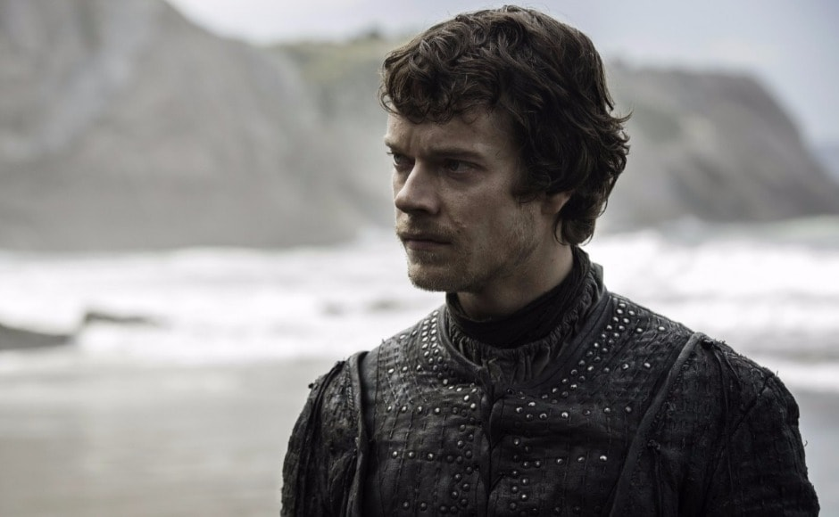 A reunion with Jon Snow awaits Theon — and a lot depends on whether or not Jon thinks Theon's helping Sansa to escape Ramsay cancels out his betrayal of Robb, and the sacking of Winterfell. Image courtesy HBO