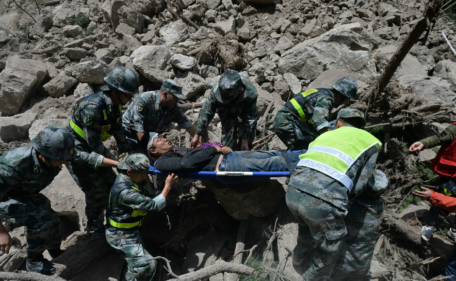 The earthquake occurred at 9.19 pm local time on Tuesday. China's National Commission for Disaster Reduction has estimated that as many as 100 people may have perished, based on census data from the sparsely populated region. Reuters