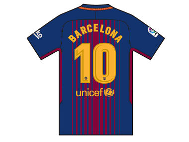 Barcelona players to play with the city's name on the back of their shirts giving tribute to the victims who lost their lives in the recent terror attacks. Image courtesy: Barcelona official website