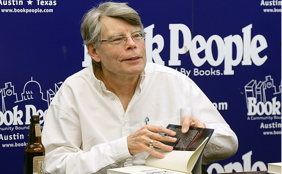 5. Stephen King is known for his nail-biting horror novels. One of them (It) is ready to be released in the form of a motion picture soon. He has earned the fifth spot on the list ($15 million) as his recent novel, End of Watch sold 1.9 million copies. It was the 55th venture of the celebrated author. Image via Gary Miller/Getty Images.