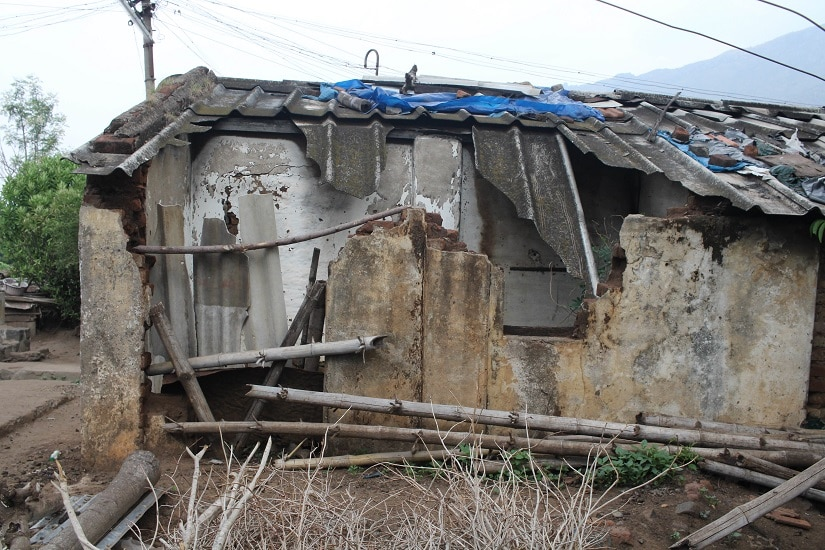 Another dilapidated house in Bokkapuram that belongs to a member of the Irular community. Photo: Sibi Arasu