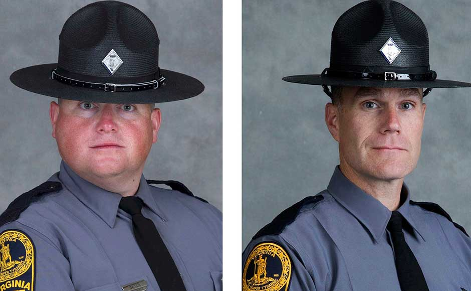 Just as the city seemed like to be quieting down, black smoke billowed out from the tree tops just outside of town as a Virginia State Police helicopter crashed into the woods. Both troopers on board, Lieutenant H Jay Cullen, 48, and Berke MM Bates, one day shy of his 41st birthday, were killed. Police said the helicopter had been deployed to address the violent protests in the city. AP