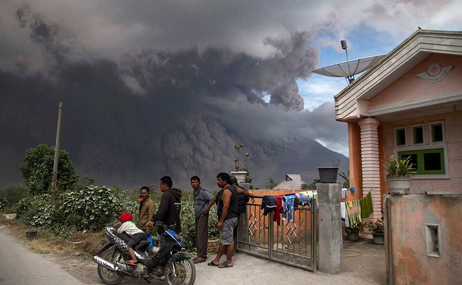 The 2,460-meter high Sinabung burst back to life in 2010 after a long period of dormancy. The volcano has been erupting sporadically ever since, killing 17 people and forcing more than 30,000 to evacuate their villages. AP