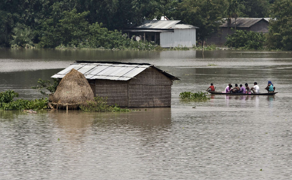 Prime Minister Narendra Modi spoke to Assam chief minister Sarbananda Sonowal expressing his concern at the critical situation and enquired about the relief measures and rescue operations. AP