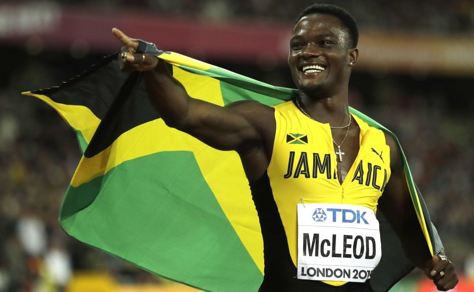 Olympic champion Omar McLeod finally gave Jamaica its first gold of the world championships, winning the 110-meter hurdles ahead of defending champion Sergey Shubenkov of Russia. AP