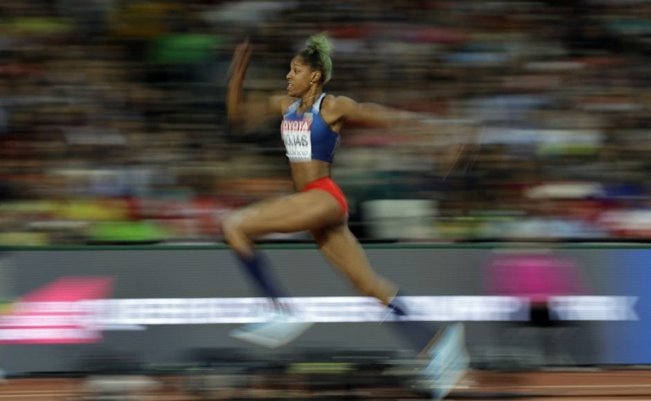 In an exciting triple jump final, 21-year-old Yulimar Rojas edged Olympic champion Caterine Ibarguen by two centimetres for gold at the world championships. AP