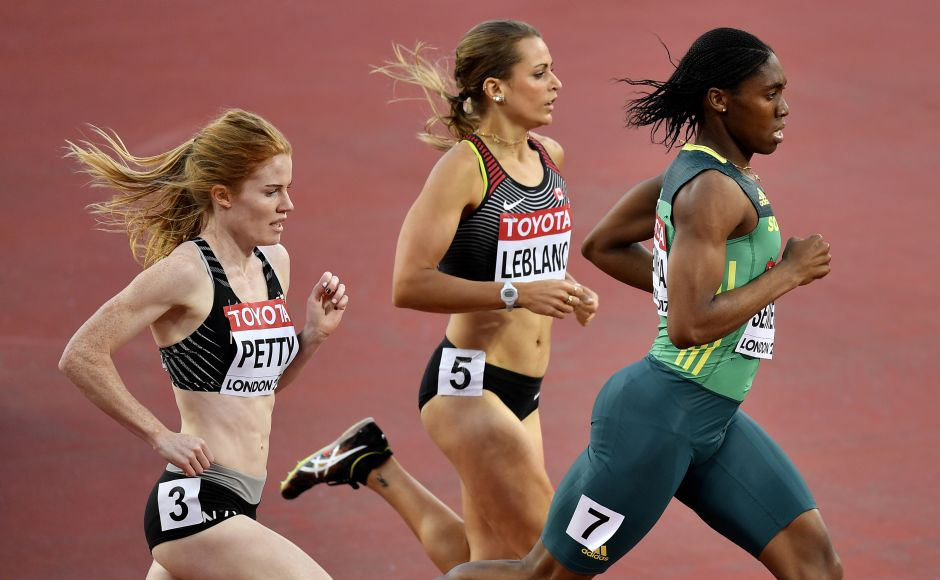 After getting bronze in the 1,500 metres, two-time Olympic and world champion Caster Semenya got back on more familiar territory: crossing the line first in her 800-metre heat to qualify for the semifinals. AP