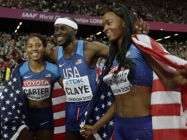 IAAF World Athletics Championships 2017 medal tally: USA dominate with 1-2 finish in triple jump, 400m hurdles