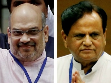 File image of Amit Shah and Ahmed Patel. PTi