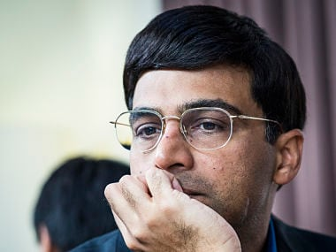 Vishwanathan Anand during his first round game. Image Courtesy: Lennart Ootes/Firstpost