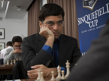 Viswanathan Anand in action against