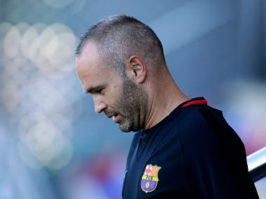File image of FC Barcelona's Andres Iniesta. AP