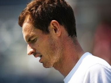 Andy Murray during a practice session prior to the US Open. Getty