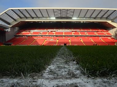 Image of the Anfield stadium in Liverpool. AFP