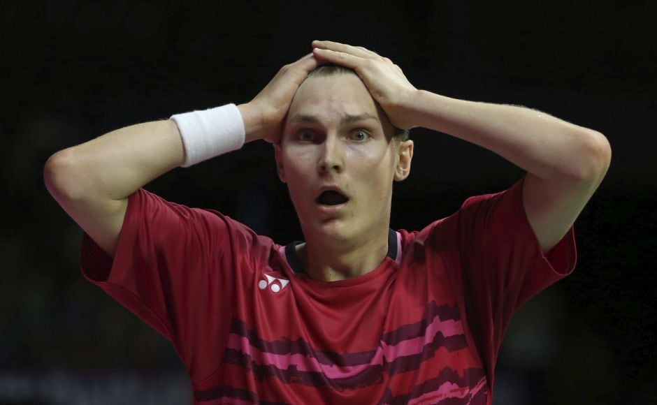 When five-time champion Lin Dan's backhand couldn't retrieve a smash, Viktor Axelsen won their final 22-20, 21-16 and turned to his coaches with shock on his face and his hands on his head. AP