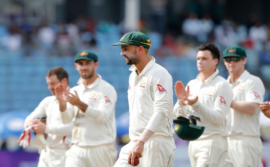 Off-spiner Nathan Lyon was the chief wicket-taker for Australia as he finished with 6 wickets in the 2nd innings. Teammates applauded his efforts as he led the Aussies after the end of Bangladesh's innings. AP