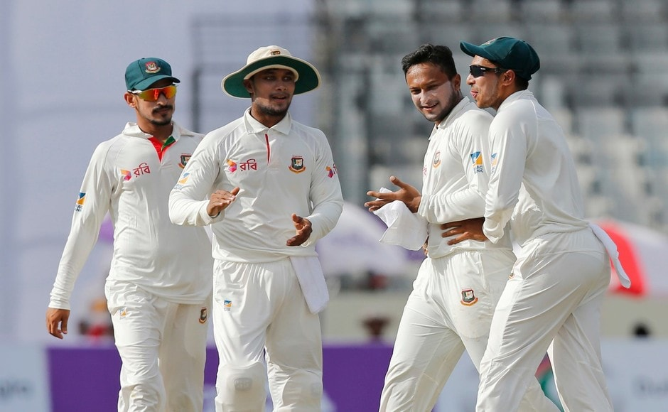 Bangladesh struck again in the space of six deliveries as left-arm spinner Shakib Al Hasan doubled Australia's misery after getting the wicket of Usman Khwaja. AP
