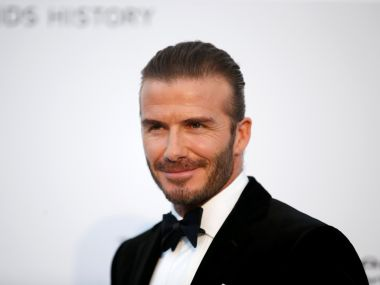 70th Cannes Film Festival – The amfAR's Cinema Against AIDS 2017 event – Photocall Arrivals - Antibes, France. 25/05/2017. David Beckham poses. REUTERS/Stephane Mahe - RTX37MZQ