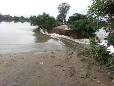 File image of the flood situation in Bihar. ETV