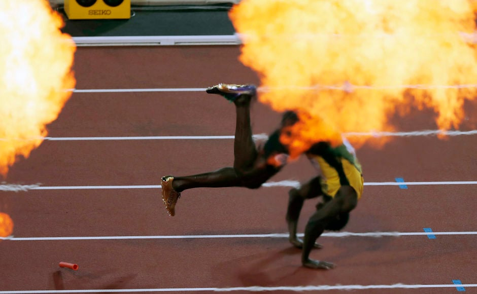 The penultimate day of the World Championships had one of the most unexpected and shocking ends as Jamaican sprinter Usain Bolt pulled a hamstring and tumbled down on to the track in the anchor leg of his swansong race, the 4x100m relay, at the IAAF World Athletics Championships in London. AP
