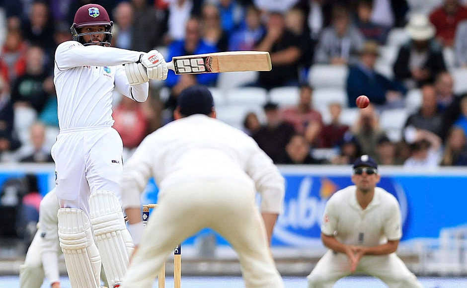 Windies' Shai Hope stood between a historic win for visitors and England as he held one end up in the 322-run chase. AP