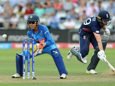 File image of Sushma Verma in action in the Women's World Cup. AP
