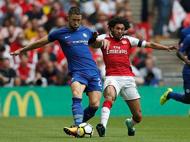 Chelsea's Gary Cahill in action during Sunday's Community Shield against Arsenal. AP
