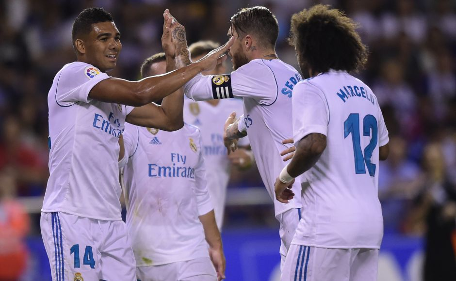 Meanwhile, Real Madrid won 3-0 against Deportivo de la Coruna but saw captain Sergio Ramos dismissed late in the match. AFP