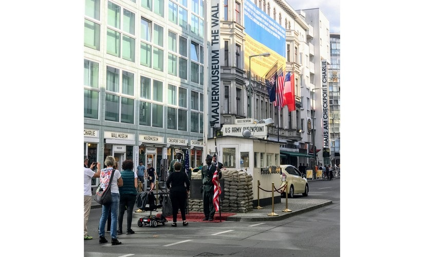 Checkpoint Charlie, the border opening between East and West Germany. Image: Nimish Sawant