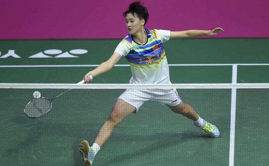 Chen Yufei, the world junior champion, dropped the opening game 14-21 but battled back to win the next two 21-16, 21-12 to beat Thailand's Ratchanok Intanon. She will face PV Sindhu in the semi-final. AFP