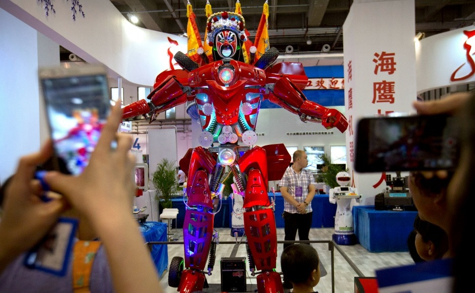 Beijing's World Robot Conference which is held22 August to 27 August this year showcases the latest technology in robotics with more than 150 companies and institutions worldwide participating in the event. AP