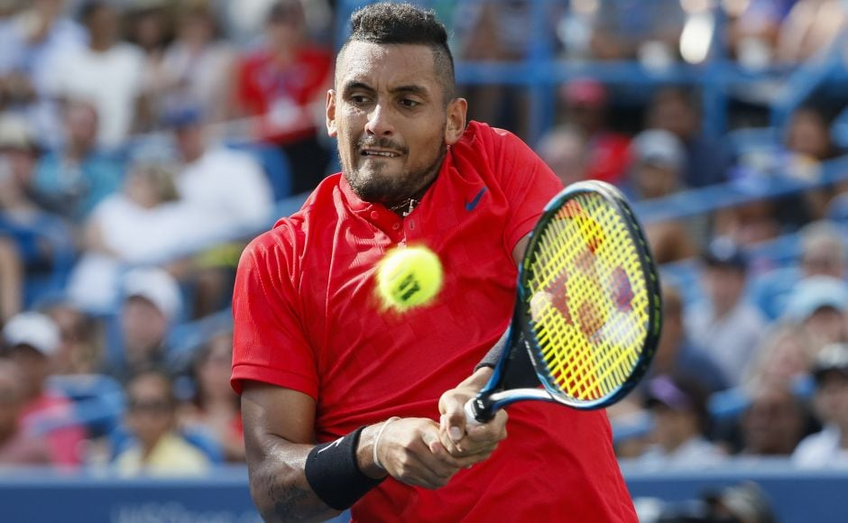 Nick Kyrgios was delighted to reach a final after a hip injury prompted him to quit several matches this summer, including at Wimbledon. AP