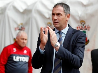 File photo of Swansea City's manager Paul Clement. Reuters
