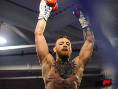 Conor McGregor is a Mixed Martial Artist and will be facing Floyd Mayweather in a boxing match.  Image Courtesy: Twitter @The NotoriousMMA