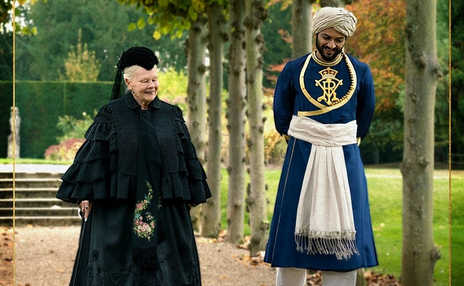 Judi Dench and Ali Fazal in Victoria and Abdul. Image from Twitter
