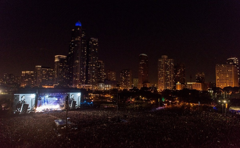Lollapalooza Day 2 saw incredible performances from Blink 182, Ryan Adams, Kaleo etc. Image from Twitter/Lollapalooza.