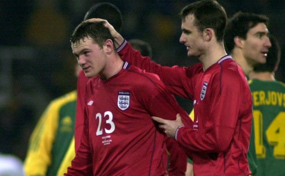 Wayne Rooney made his international debut for England against Austria, and was the youngest at the time for his country to do it at 17 years of age. AFP