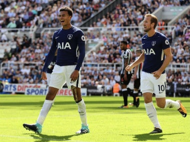 Dele Alli scored the opening goal for Tottenham Hotspur at St. James' Park. Twiiter: Dele Alli
