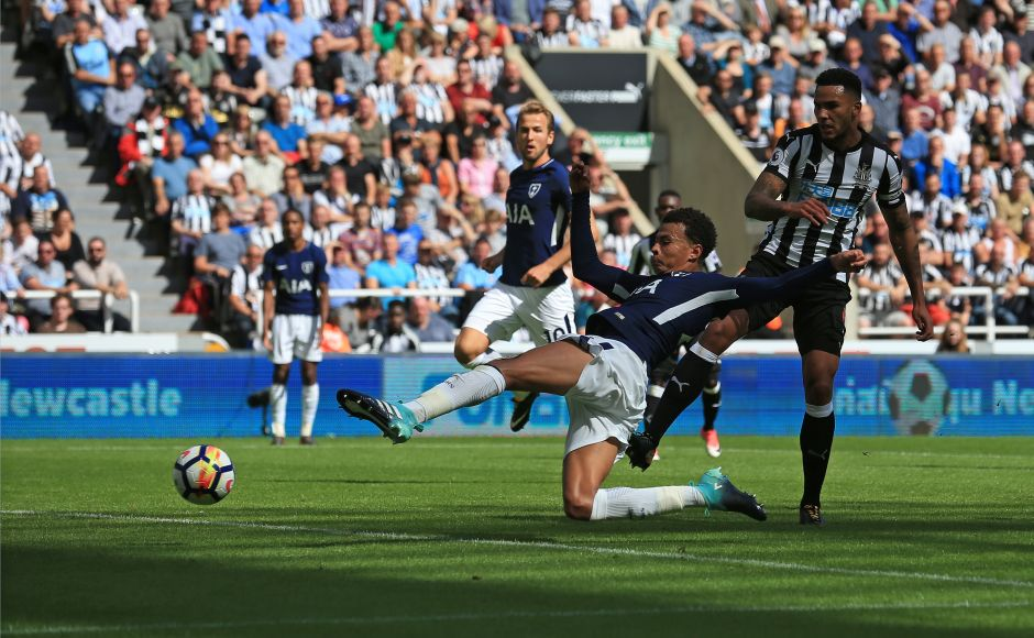 Dele Alli opened his account for the season as he latched on to Christian Eriksen's cross to score Tottenham Hotspur's first goal of the match. Spurs, runners-up last season, got off to a slow start before scoring twice in the second half to win 2-0 against Newcastle United. AFP