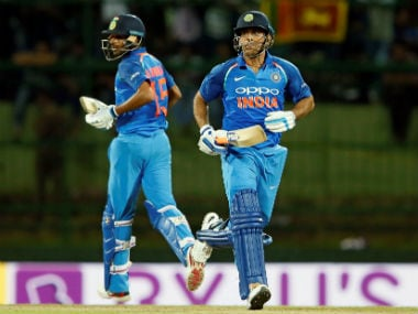 MS Dhoni and Bhuvneshwar Kumar stitched an unbeaten century stand for the eighth wicket. Pallekele