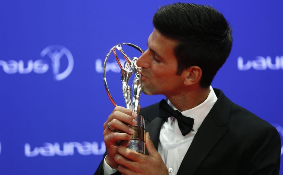 Novak Djokovic who won the 'Sportsman of the Year' for the third time in 2016 after winning three Grand Slams – Australian Open, Wimbledon and US Open – in 2015. Reuters