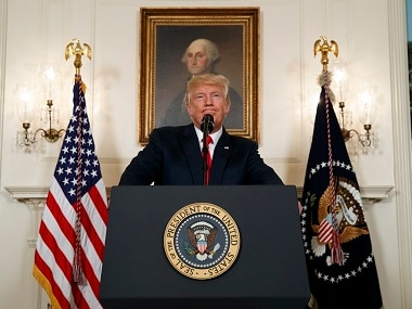 Donald Trump gave a hesitant response to the violence at Charlottesville. AP
