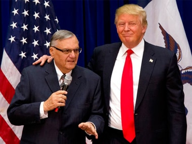 File image of Donald Trump with sheriff Joe Arpaio. AP